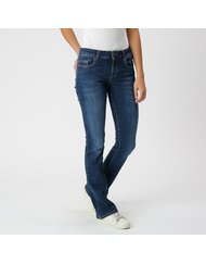 AMY, MEDIUM RISE SKINNY BOOTCUT, COLOR: DARK BLUE, MATERIAL: 90% COTTON 4% ELASTANE 6% T400