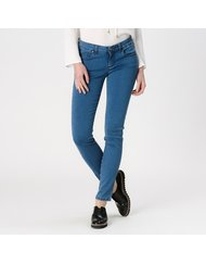 MARA, MEDIUM RISE SKINNY, COLOR: BLUE, MATERIAL: 90% COTTON 4% ELASTANE 6% T400