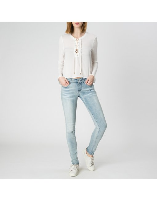 MARA10_460_FLR - MARA, MEDIUM RISE SKINNY MARA, MEDIUM RISE SKINNY, COLOR: LIGHT, MATERIAL: 94% COTTON 3% ELASTANE 3% PES,'