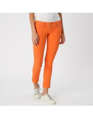 MARA, MEDIUM RISE 7/8, COLOR: ORANGE, MATERIAL: 32% COTTON 32% TENCEL 22% RAYON 12% POLYESTER 2%SPANDEX