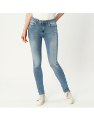 MIRA, HIGH RISE SKINNY, COLOR: BLUE, MATERIAL: 73% COTTON 24% PES 3% ELASTANE