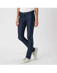 MIRA, HIGH RISE SKINNY, COLOR: BLUE, MATERIAL: 100% POLYESTER