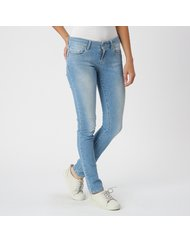 MIRA, MEDIUM RISE SKINNY, COLOR: LIGHT BLUE, MATERIAL: 98, 5% COTTON 1, 5% ELASTANE