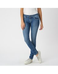 MIRA, MEDIUM RISE SKINNY, COLOR: BLUE, MATERIAL: 98, 5% COTTON 1, 5% ELASTANE